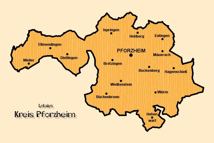 Pforzheim Karte.Lokalus Kreis Pforzheim